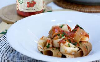 Calamarata con pomodorini di Corbara