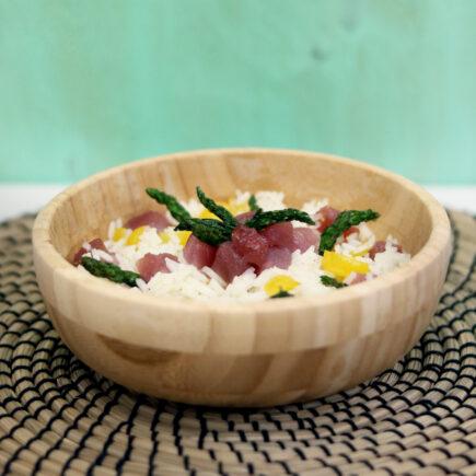 insalata di riso con tonno rosso